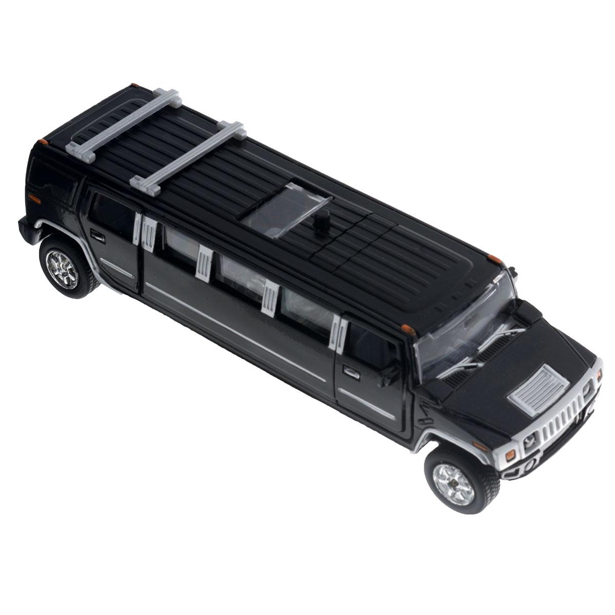 Машинка инерционная ТехноПарк Лимузин, цвет: черныйSL-971-SBМашинка ТехноПарк Лимузин, выполненная из пластика и металла в виде лимузина, станет любимой игрушкой вашего малыша. Передние и задние двери машины, а также люк открываются; колеса прорезинены. При нажатии кнопки на крыше лимузина салон начинает подсвечиваться и воспроизводится веселая мелодия или характерные для машинки звуки. Игрушка оснащена инерционным ходом. Машинку необходимо отвести назад, затем отпустить - и она быстро поедет вперед. Ваш ребенок будет часами играть с этой игрушкой, придумывая различные истории. Порадуйте его таким замечательным подарком! Машинка работает от батареек (товар комплектуется демонстрационными).