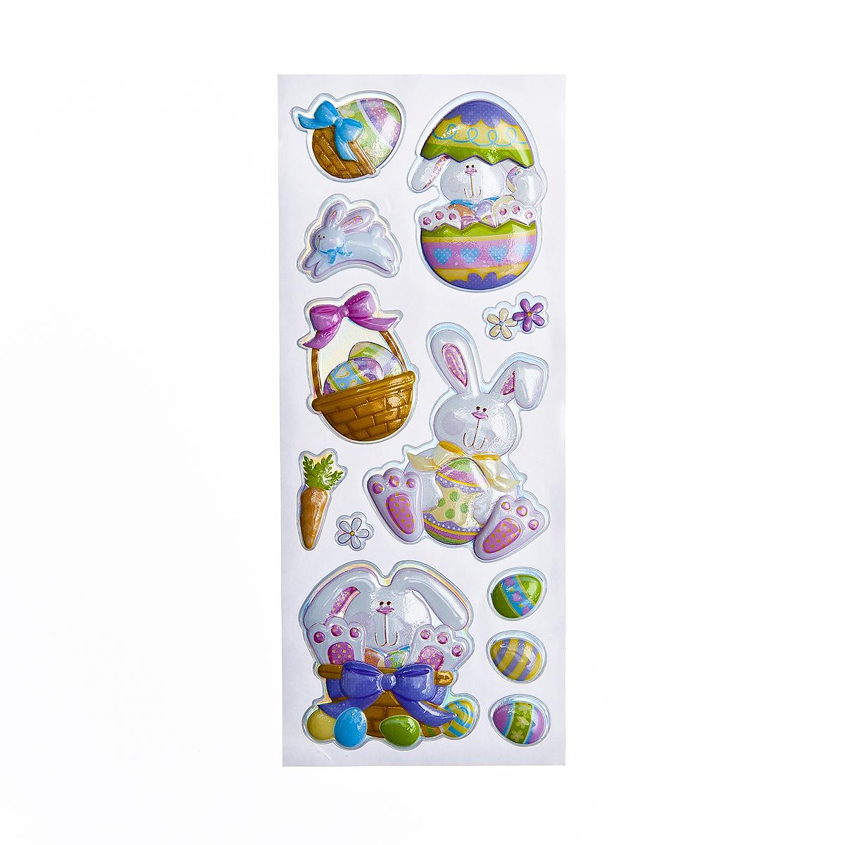 Набор объемных наклеек Home Queen Кролик в яйце, 11 шт60882_1Набор объемных наклеек Home Queen Кролик в яйце прекрасно подойдет для оформления творческих работ. Их можно использовать для скрапбукинга, украшения упаковок, подарков и конвертов, открыток, декорирования коллажей, фотографий, изделий ручной работы и предметов интерьера. Объемные наклейки выполнены из ПВХ. Задняя сторона клейкая. В наборе - 11 объемных наклеек, выполненных в виде пасхального кролика, цыпленка и яиц. Такой набор украшений создаст атмосферу праздника в вашем доме. Комплектация: 11 шт. Средний размер наклейки: 6 см х 6,5 см.