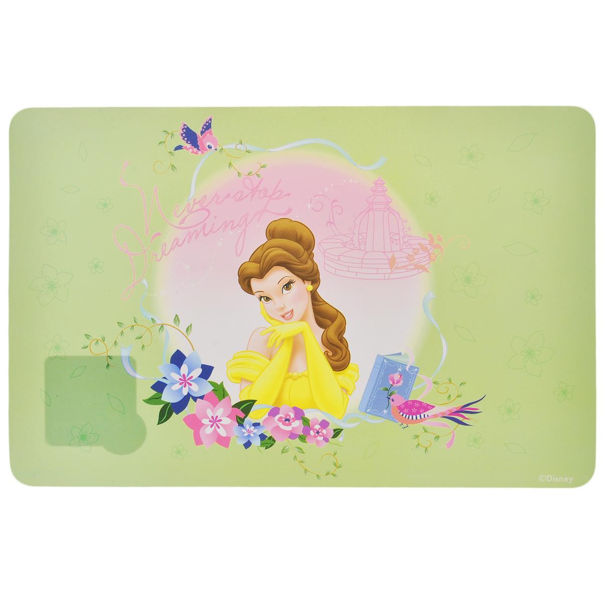 Термосалфетка Disney Принцессы. Белль, 43 х 28 см60640салатовыйТермосалфетка Disney Принцессы, изготовленная из полипропилена, прекрасно подойдет для сервировки стола. Салфетка декорирована красочным изображением принцессы Белль из мультфильма Красавица и чудовище. Поверхность матовая. Термосалфетки защищают поверхность стола от воздействия высоких температур, влаги и загрязнений. Могут использоваться для детского творчества (рисования, лепки из пластилина) в качестве защитного покрытия, а также как подставки под вазы, кухонные приборы и другое. Стильный дизайн красиво дополнит интерьер помещения.