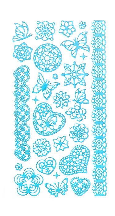 Набор декоративных наклеек Home Queen Цветочное настроение. Бабочки, цвет: голубой68233_5Набор наклеек Home Queen Цветочное настроение. Бабочки, выполненный из ПВХ, прекрасно подойдет для оформления творческих работ. Их можно использовать для украшения пасхальных яиц, упаковок, подарков и конвертов, открыток, декорирования коллажей, фотографий, изделий ручной работы и предметов интерьера. Такой набор украшений создаст атмосферу праздника в вашем доме. Размер листа: 17,5 х 9,5 см. Количество наклеек на листе: 27 шт. Средний размер наклейки: 4,5 х 4 см.
