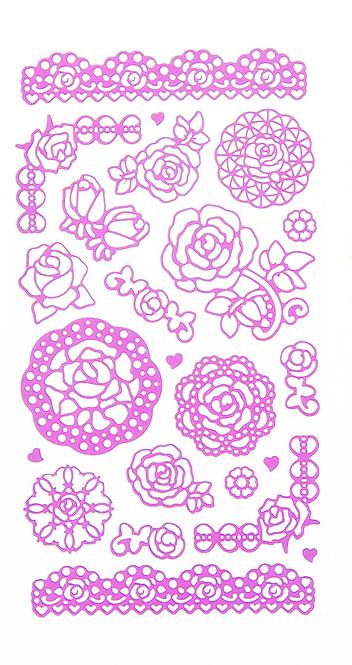 Набор декоративных наклеек Home Queen Цветочное настроение. Розы, цвет: розовый, 23 шт68233_2Набор наклеек Home Queen Цветочное настроение. Розы прекрасно подойдет для оформления творческих работ. Их можно использовать для украшения пасхальных яиц, упаковок, подарков и конвертов, открыток, декорирования коллажей, фотографий, изделий ручной работы и предметов интерьера. Наклейки выполнены из ПВХ. Задняя сторона клейкая. В наборе - 23 наклейки. Такой набор украшений создаст атмосферу праздника в вашем доме. Комплектация: 23 шт. Средний размер наклейки: 4,5 см х 4 см.