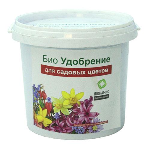 Био удобрение для садовых цветов Дюнамис, 1 л0409-сБио удобрение Дюнамис - экологически чистый и безопасный продукт. Удобрение высокой концентрации, предназначено для садовых цветов. Добавляется при посадке от 3 до 7% к объему грунта. Вещества в хелатной форме - быстро усваивается. Свойства: - увеличение интенсивности окраски, - повышение сопротивляемости заболеваниям, - улучшение приживаемости рассады и луковиц, - обильное и длительное цветение, повышение силы растений, - эффективная помощь при дефиците питания и влаги. Состав: ферментированный навоз КРС, помет, биокатализатор.