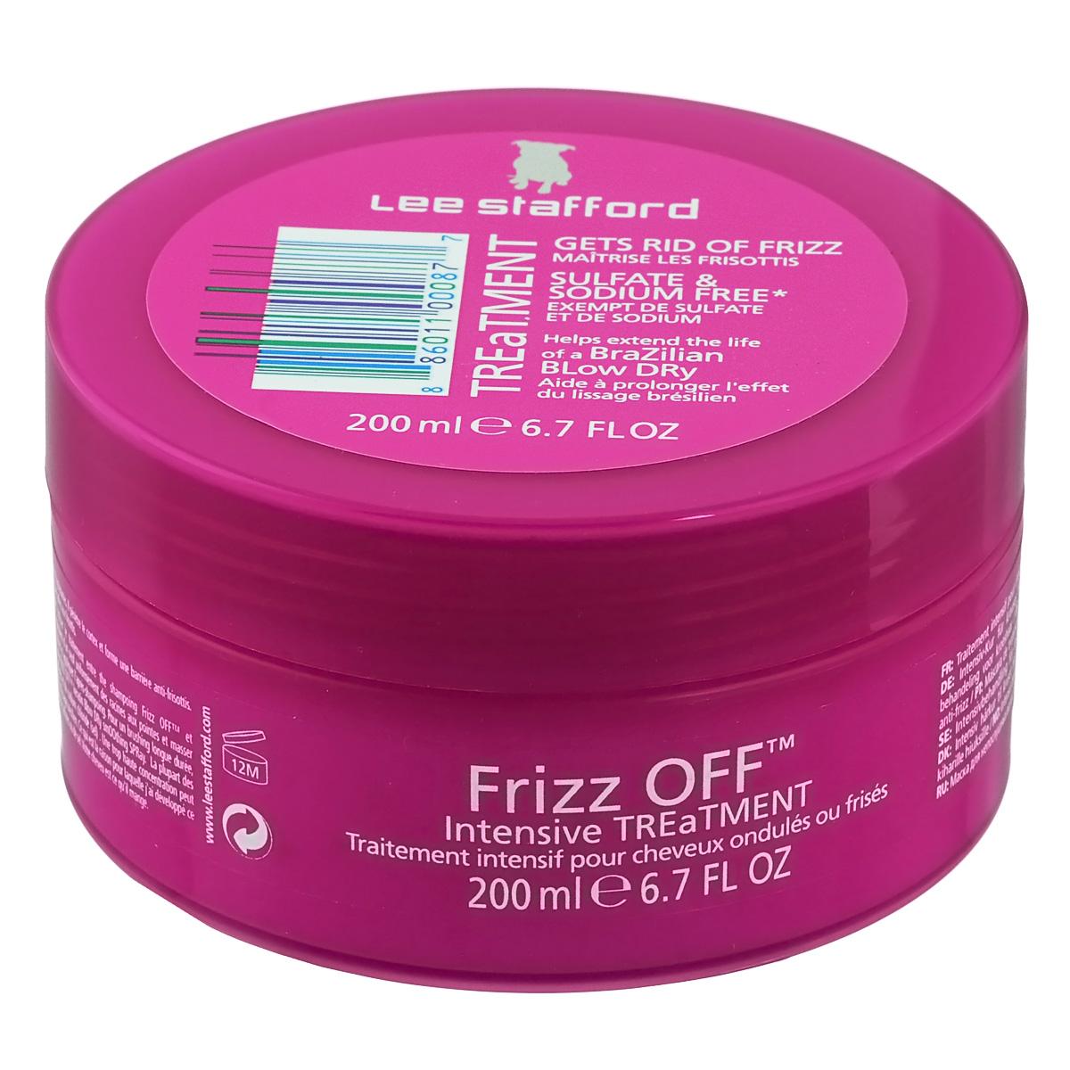 Lee Stafford Маска для придания гладкости непослушным волосам Frizz Off, 200 мл785295200231 Lee Stafford Маска для придания гладкости непослушным волосам Frizz OFF Treatment, 200 мл. Средство использовать не реже 1 раза в неделю между применениями шампуня и кондиционера линии Frizz OFF. Нанести на влажные, чистые волосы, распределив по всей длине, через 5 мин промыть водой. Серия разработана для людей с чувствительной кожей головы, сухими, повреждёнными непослушными волосами.