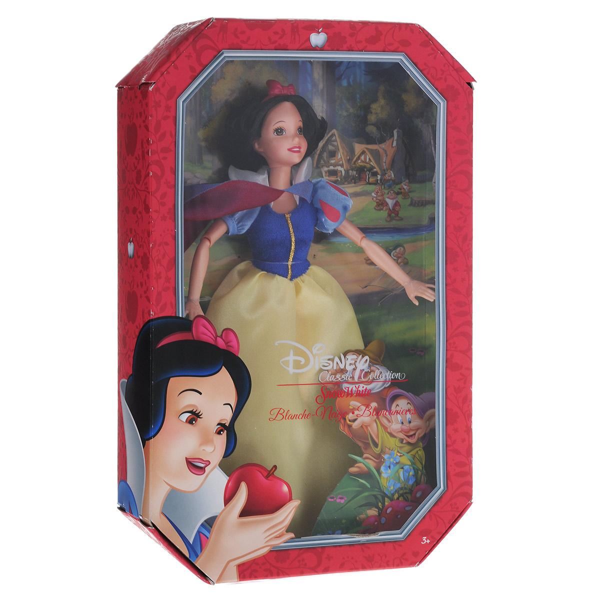 Disney Princess Кукла Принцесса БелоснежкаBDJ26(BDJ27/BDJ28/BDJ29)Кукла Disney Princess Принцесса Белоснежка поможет вашей малышке окунуться в сказочный мир. Очаровательная куколка выполнена в виде героини диснеевского мультфильма Белоснежка и 7 гномов. У куколки короткие черные волосы, большие глаза и сияющая улыбка. Одета куколка в шикарное длинное платье с голубым верхом, покрытым блестками, и желтой пышной юбкой, на ногах у нее красные блестящие туфельки, а на голове - прекрасная диадема. У платья пластиковый верх. Ваша малышка с удовольствием будет играть с этой куколкой, проигрывая сюжеты из мультфильма или придумывая различные истории. Игры с куклой способствуют эмоциональному развитию ребенка, а также помогают формировать воображение и художественный вкус. Малышка проведет множество счастливых часов, играя с очаровательной принцессой. Великолепное качество исполнения делают эту игрушку чудесным подарком к любому празднику.