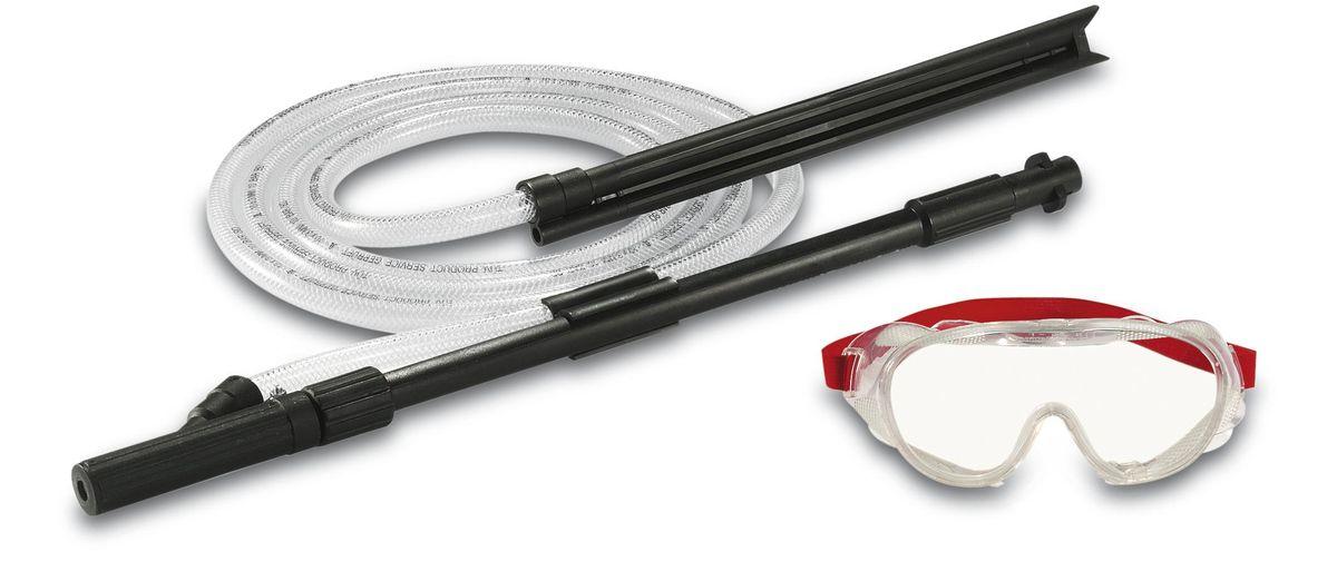 Комплект Karcher для струйной абразивной очистки, 3 предмета 2.638-792.02.638-792.0Комплект Karcher идеально подходит для мокрой пескоструйной очистки, легко удаляет ржавчину, старую краску и стойкие загрязнения с использованием абразивного средства Karcher. Предназначен для бытовых аппаратов высокого давления Karcher К2-К7. В комплект входит: защитные пластиковые очки, шланг с всасывающим наконечником, длина: 3 м, трубка для распыления, длина: 56 см.