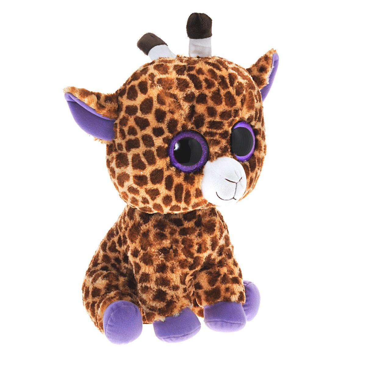 Мягкая игрушка Beanie Boos Жираф Safari, 45 см36801Очаровательная мягкая игрушка Beanie Boos Жираф Safari, выполненная в виде милого жирафика, непременно вызовет улыбку и симпатию и у детей, и у взрослых. Забавный жираф с выразительными фиолетовыми глазками изготовлен из высококачественного мягкого текстильного материала с набивкой из синтепона. Как и все игрушки серии Beanie Boos, эта игрушка изготовлена вручную, с любовью и вниманием к деталям. Удивительно мягкая игрушка принесет радость и подарит своему обладателю мгновения нежных объятий и приятных воспоминаний. Великолепное качество исполнения делают эту игрушку чудесным подарком к любому празднику. Трогательная и симпатичная, она непременно порадует детей и взрослых.