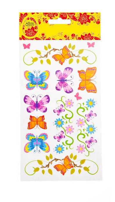 Набор переводных наклеек для яиц Home Queen Флора и фауна. Бабочки, 13 шт68236_2Набор Home Queen Флора и фауна. Бабочки состоит из 13 переводных наклеек, которые предназначены для декорирования пасхальных яиц. Наклейки выполнены из ПВХ в виде бабочек и цветов. Такой набор украшений создаст атмосферу праздника в вашем доме. Средний размер наклейки: 3 х 2,5 см.
