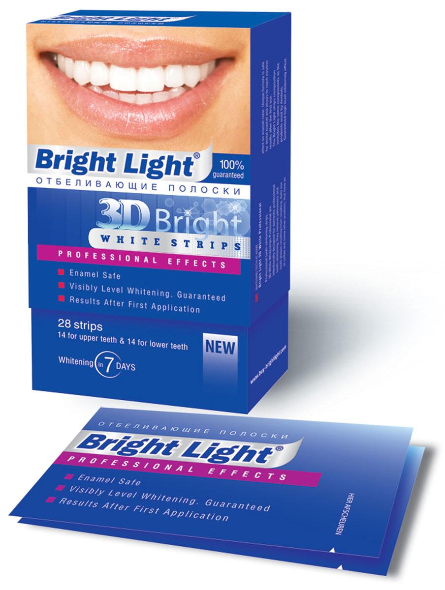Отбеливающие полоски для зубов Bright Light 3D Bright Professional EffectsPRO -1Три шага к белоснежной улыбке за 7 дней! Полоски «Bright Light» 3D Bright «PROFFESSIONAL EFFECTS» специально созданы для отбеливания зубов в домашних условиях, удаляют желтизну и зубной налет, образующийся от курения, частого употребления кофе и других продуктов, влияющих на цвет эмали. Эффект высокого уровня отбеливания гарантирован. Результат сохраняется надолго!