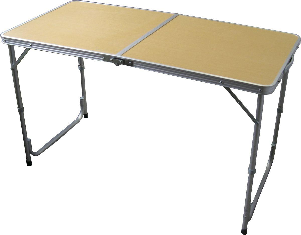 Стол складной Woodland Family Table, 120 см х 60 см х 70 см0036514Складной стол Woodland Family Table предназначен для создания комфортных условий в туристических походах, рыбалке и кемпинге. Особенности: Компактная складная конструкция. Прочный алюминиевый каркас. Материал столешницы - МДФ. Удобная ручка для переноски.
