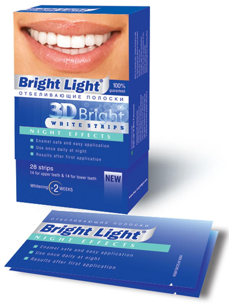 Отбеливающие полоски для зубов Bright Light 3D Bright Night EffectsNight -2Характеристики: Комплектация: 28 шт. Размер упаковки: 7,5 см x 13 см x 2,5 см. Производитель: Китай. Товар сертифицирован.