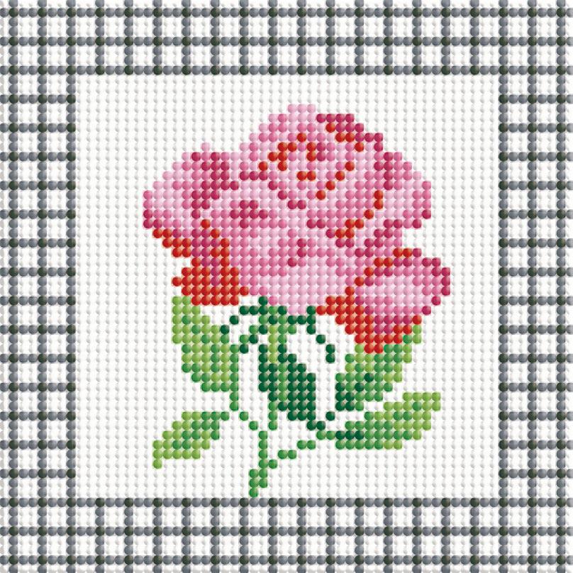 Набор для творчества Алмазная мозаика. Розовая роза, 15 х 15 см035-ST-P Розовая розаНабор для творчества Алмазная мозаика. Розовая роза поможет вам создать свой личный шедевр - красивую картину, выполненную в мозаичной технике. Каждый камушек выполнен из прочного материала, огранен по типу драгоценных камней и при попадании на грани солнечного или искусственного света образуется мерцающее полотно. Мозаичные картины - это новый вид творчества, который поможет создать прекрасное украшение для вашего дома. В наборе имеется холст с нанесенной схемой. С помощью пинцета стразы размещаются на холст. В результате проявляется рисунок. Для создания картины нужно лишь выложить мозаику по схеме. Вы получите огромное наслаждение от творчества. В набор входит: - основа картины - холст, - комплект искусственных камней, размер 2,5 мм х 2,5 мм, 10 цветов, - пинцет, - пластмассовый лоток для камней, - пластмассовый карандаш для камней, - жидкий клей.