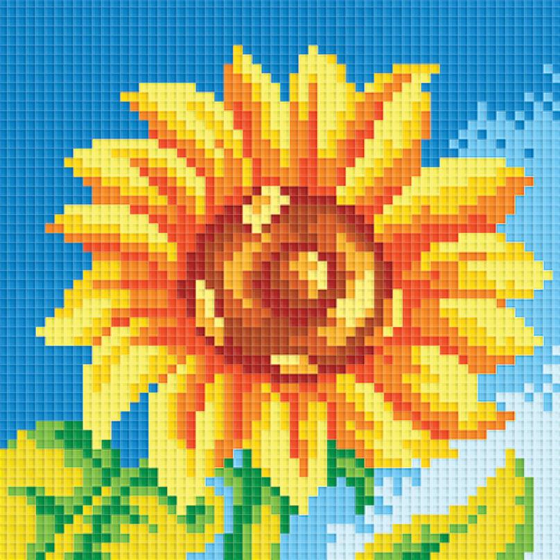 Набор для творчества Алмазная мозаика. Маленький подсолнух, 15 х 15 см047-ST-P Маленький подсолнухНабор для творчества Алмазная мозаика. Маленький подсолнух поможет вам создать свой личный шедевр - красивую картину, выполненную в мозаичной технике. Каждый камушек выполнен из прочного материала, огранен по типу драгоценных камней и при попадании на грани солнечного или искусственного света образуется мерцающее полотно. Мозаичные картины - это новый вид творчества, который поможет создать прекрасное украшение для вашего дома. В наборе имеется холст с нанесенной схемой. С помощью пинцета стразы размещаются на холст. В результате проявляется рисунок. Для создания картины нужно лишь выложить мозаику по схеме. Вы получите огромное наслаждение от творчества. В набор входит: - основа картины - холст, - комплект искусственных камней, размер 2,5 мм х 2,5 мм, 17 цветов, - пинцет, - пластмассовый лоток для камней, - пластмассовый карандаш для камней, - жидкий клей.
