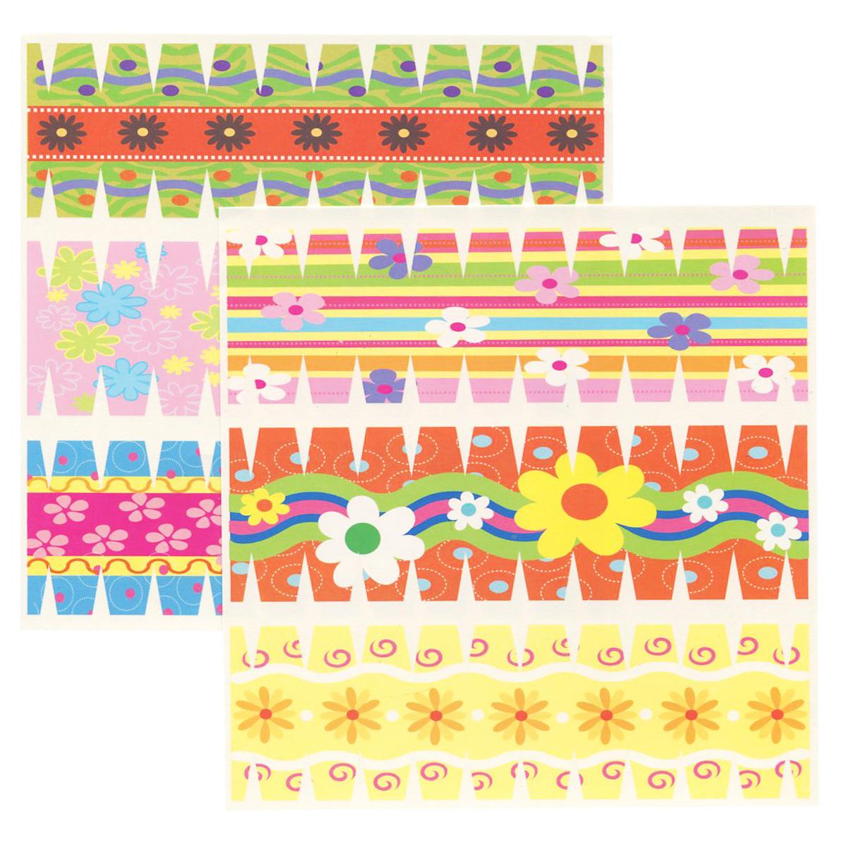 Набор переводных наклеек для яиц Home Queen Цветы, 6 шт60883_5Набор Home Queen Цветы состоит из 6 переводных наклеек, которые предназначены для декорирования пасхальных яиц. Наклейки выполнены из бумаги и украшены различными узорами. Такой набор украшений создаст атмосферу праздника в вашем доме. Размер наклейки: 4,4 см х 14,5 см.