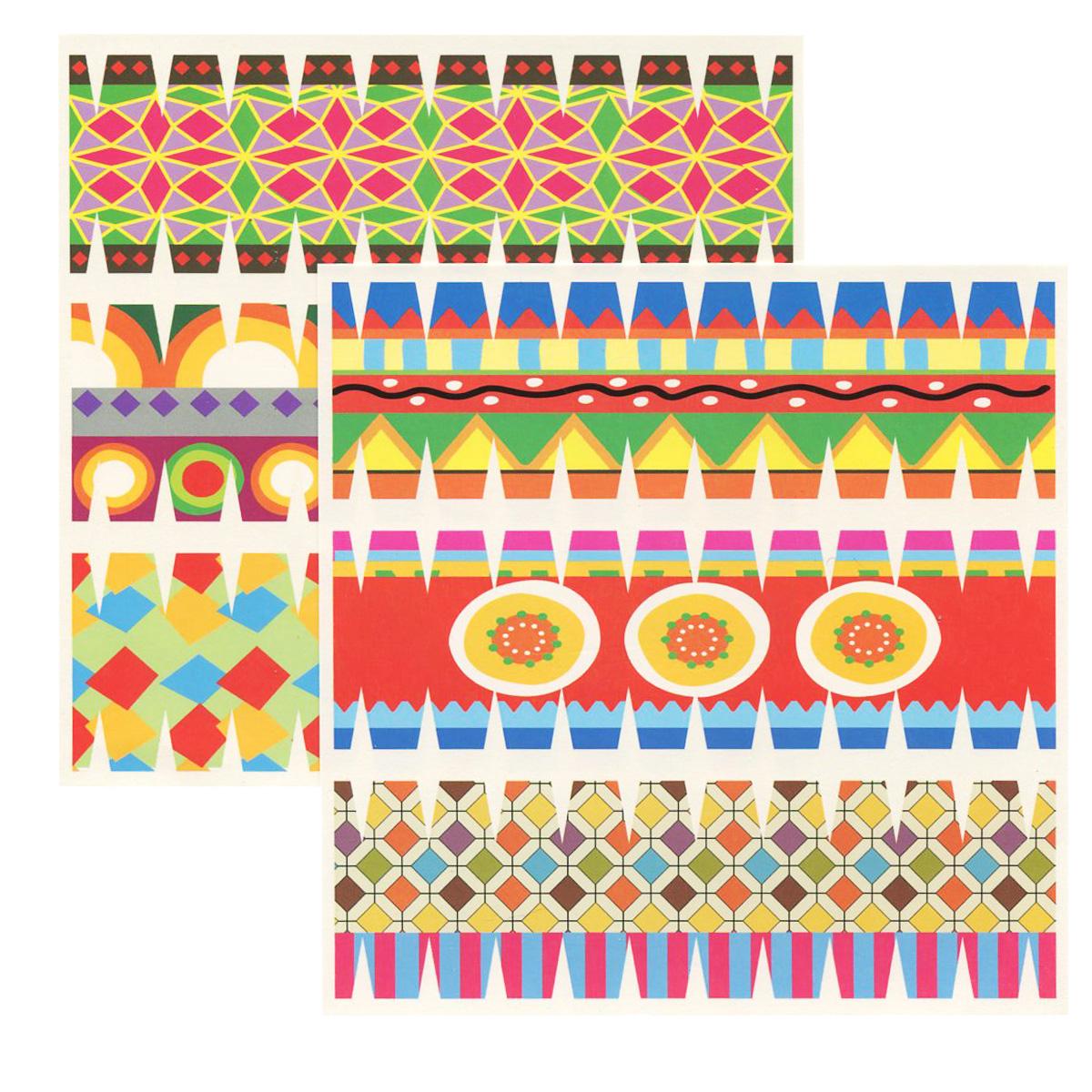 Набор переводных наклеек для яиц Home Queen Пасха, 6 шт60883_6Набор Home Queen Пасха состоит из 6 переводных наклеек, которые предназначены для декорирования пасхальных яиц. Наклейки выполнены из бумаги и украшены различными узорами. Такой набор украшений создаст атмосферу праздника в вашем доме. Размер наклейки: 4,4 см х 14,5 см.