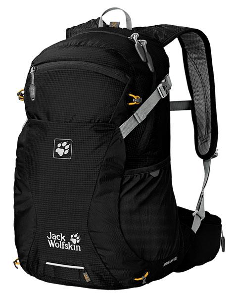 Рюкзак спортивный Jack Wolfskin Moab Jam 24, цвет: черный, 24 л