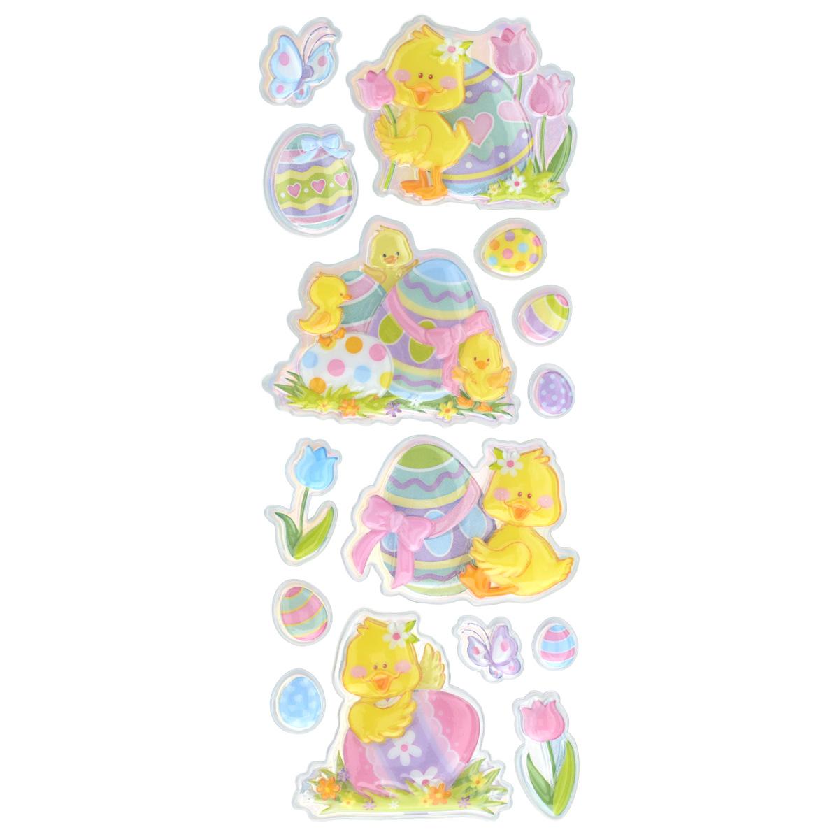 Набор объемных наклеек Home Queen Цыплята с тюльпанами, 15 шт60882_6Набор объемных наклеек Home Queen Цыплята с тюльпанами прекрасно подойдет для оформления творческих работ. Их можно использовать для скрапбукинга, украшения упаковок, подарков и конвертов, открыток, декорирования коллажей, фотографий, изделий ручной работы и предметов интерьера. Объемные наклейки выполнены из ПВХ. Задняя сторона клейкая. В наборе - 15 объемных наклеек, выполненных в виде цыпленка, пасхальных яиц и цветов. Такой набор украшений создаст атмосферу праздника в вашем доме. Комплектация: 15 шт. Средний размер наклейки: 6 см х 5,5 см.