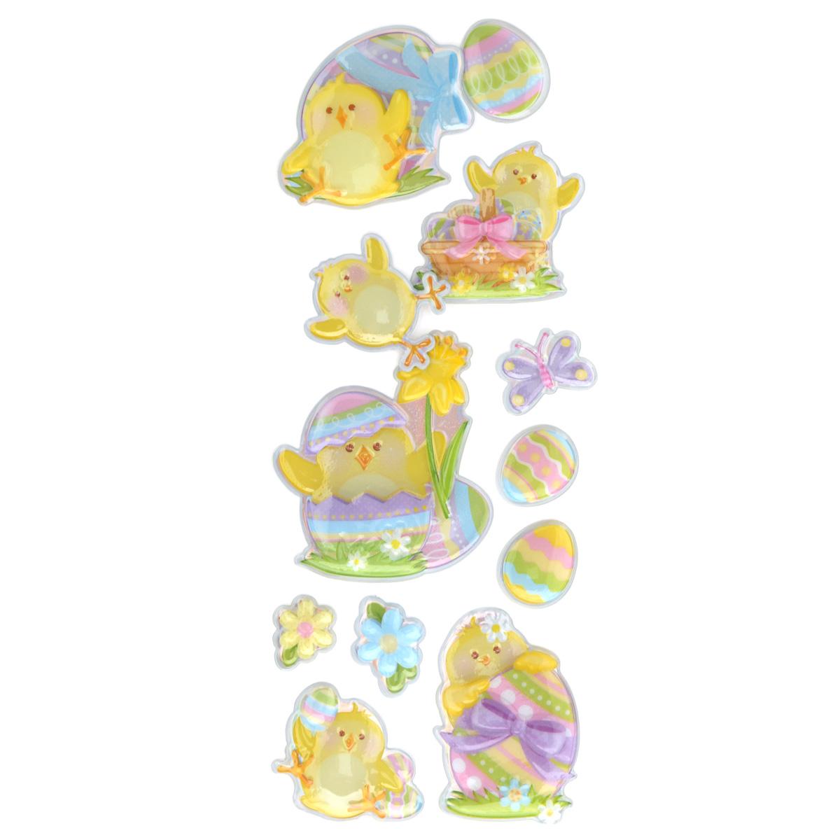 Набор объемных наклеек Home Queen Цыпленок с нарциссом, 12 шт60882_3Набор объемных наклеек Home Queen Цыпленок с нарциссом прекрасно подойдет для оформления творческих работ. Их можно использовать для скрапбукинга, украшения упаковок, подарков и конвертов, открыток, декорирования коллажей, фотографий, изделий ручной работы и предметов интерьера. Объемные наклейки выполнены из ПВХ. Задняя сторона клейкая. В наборе - 12 объемных наклеек, выполненных в виде цыпленка, пасхальных яиц и цветов. Такой набор украшений создаст атмосферу праздника в вашем доме. Комплектация: 12 шт. Средний размер наклейки: 4,5 см х 4,5 см.