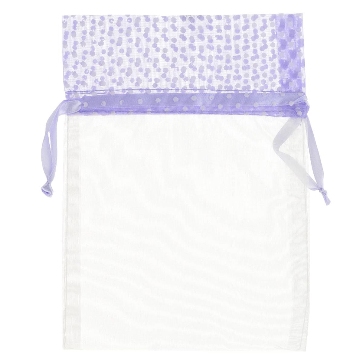 Мешочек подарочный Home Queen Светозарный, цвет: фиолетовый, 13 см х 18 см64491_8Подарочный мешочек Home Queen Светозарный, выполненный из полупрозрачного полиэстера, оформлен рисунком в горох. Изделие имеет шнурок, потянув за два конца которого, можно закрыть мешочек. Для удобства переноски можно использовать концы шнурка как ручки. Подарок, преподнесенный в оригинальной упаковке, всегда будет самым эффектным и запоминающимся. Окружите близких людей вниманием и заботой, вручив презент в нарядном, праздничном оформлении.