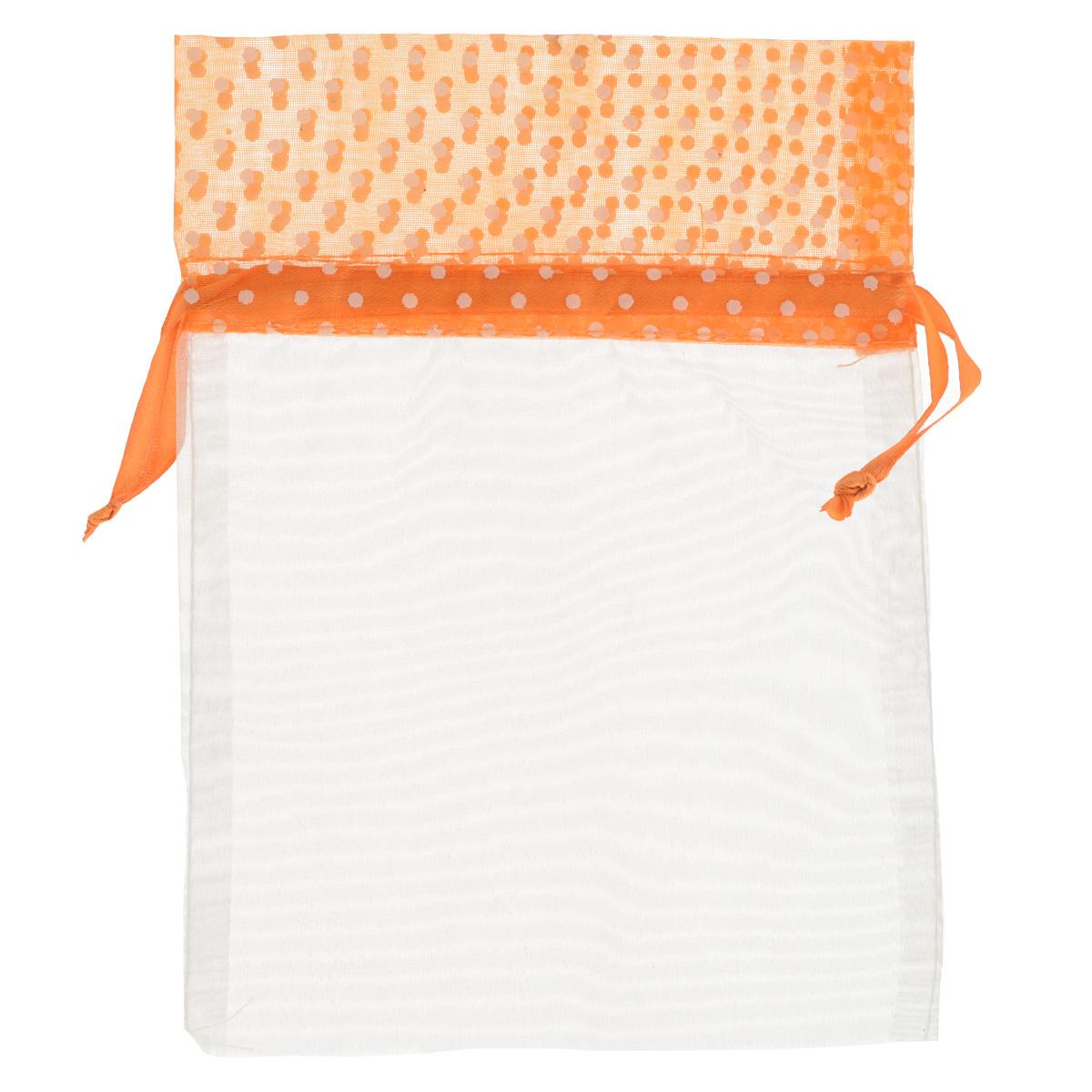 Мешочек подарочный Home Queen Светозарный, цвет: оранжевый, 13 см х 18 см64491_4Подарочный мешочек Home Queen Светозарный, выполненный из полупрозрачного полиэстера, оформлен рисунком в горох. Изделие имеет шнурок, потянув за два конца которого, можно закрыть мешочек. Для удобства переноски можно использовать концы шнурка как ручки. Подарок, преподнесенный в оригинальной упаковке, всегда будет самым эффектным и запоминающимся. Окружите близких людей вниманием и заботой, вручив презент в нарядном, праздничном оформлении.
