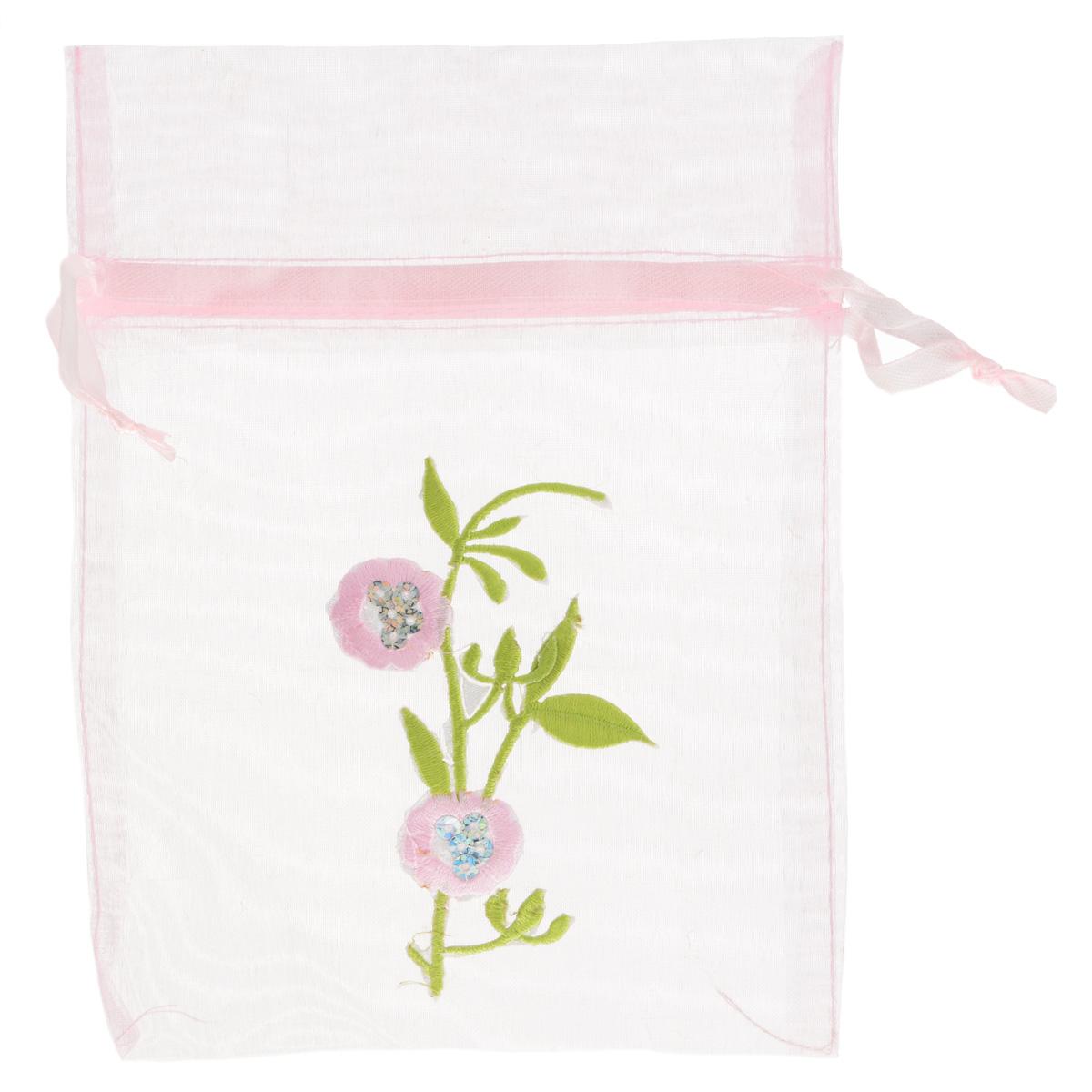 Мешочек подарочный Home Queen Декорированный, цвет: розовый, 13 х 18 см64492_4Подарочный мешочек Home Queen Декорированный, выполненный из полупрозрачного полиэстера, оформлен вышивкой в виде цветка. Изделие имеет шнурок, потянув за два конца которого, можно закрыть мешочек. Для удобства переноски можно использовать концы шнурка как ручки. Подарок, преподнесенный в оригинальной упаковке, всегда будет самым эффектным и запоминающимся. Окружите близких людей вниманием и заботой, вручив презент в нарядном, праздничном оформлении. УВАЖАЕМЫЕ КЛИЕНТЫ! Обращаем ваше внимание на возможные незначительные изменения в декоративном оформлении товара. Поставка осуществляется в зависимости от наличия на складе.