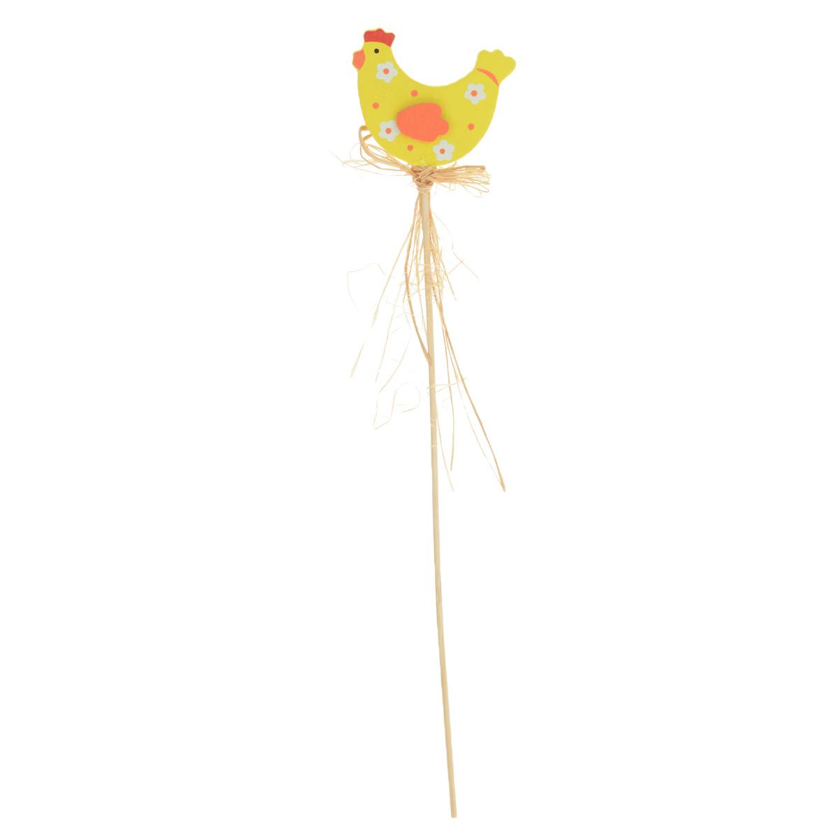 Декоративное пасхальное украшение на ножке Home Queen Наседки, высота 30,5 см. 66761_курочка в цветочек66761_3Украшение пасхальное Home Queen Наседки изготовлено из высококачественного дерева и предназначено для украшения праздничного стола. Украшение выполнено в виде милой курочки на деревянной шпажке и украшено текстильным бантом. Такое украшение прекрасно дополнит подарок для друзей и близких на Пасху. Высота: 30,5 см. Размер фигурки: 5,5 см х 0,5 см х 6,5 см.