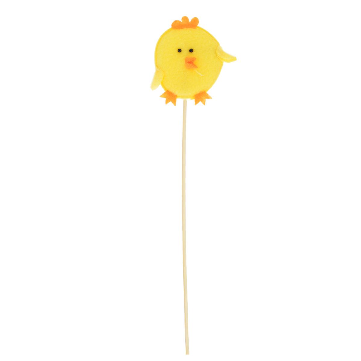 Декоративное пасхальное украшение на ножке Home Queen Цыпленок, высота 26,5 см60732_2Украшение пасхальное Home Queen Цыпленок изготовлено из высококачественного полиэстера и предназначено для украшения праздничного стола. Украшение выполнено в виде цыпленка на деревянной шпажке. Такое украшение прекрасно дополнит подарок для друзей и близких на Пасху. Высота: 26,5 см. Размер фигурки: 7 см х 0,5 см х 7 см.