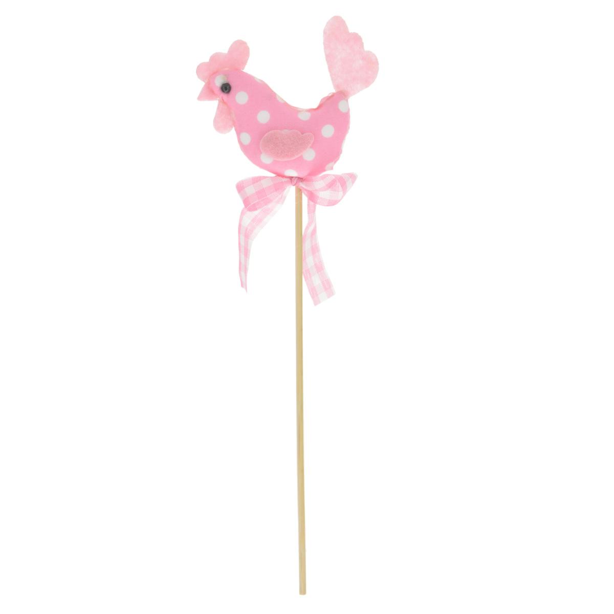 Декоративное пасхальное украшение на ножке Home Queen Петушок, цвет: розовый, высота 25 см64392_2Украшение пасхальное Home Queen Петушок изготовлено из высококачественного полиэстера и предназначено для украшения праздничного стола. Украшение выполнено в виде петушка на деревянной шпажке и украшено текстильным бантом. Такое украшение прекрасно дополнит подарок для друзей и близких на Пасху. Высота: 25 см. Размер фигурки: 7,5 см х 1,5 см х 5,5 см.