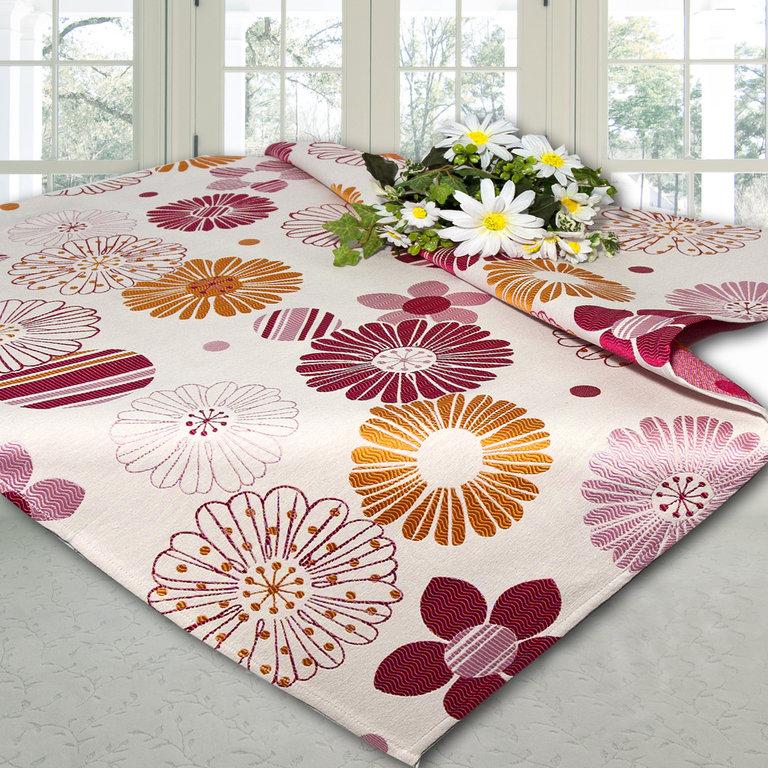 Скатерть Schaefer, квадратная, цвет: розовый, оранжевый, 85 x 85 см. 06665-10006665-100Скатерть Schaefer выполнена из высококачественного полиэстера и оформлена цветочным принтом. У скатерти интересная фактура ткани, создающая объемный рисунок. Изделия из полиэстера легко стирать: они не мнутся, не садятся и быстро сохнут, они более долговечны, чем изделия из натуральных волокон. Скатерть Schaefer не останется без внимания ваших гостей, а вас будет ежедневно радовать ярким дизайном и несравненным качеством. Немецкая компания Schaefer создана в 1921 году. На протяжении всего времени существования она создает уникальные коллекции домашнего текстиля для гостиных, спален, кухонь и ванных комнат. Дизайнерские идеи немецких художников компании Schaefer воплощаются в текстильных изделиях, которые сделают ваш дом красивее и уютнее и не останутся незамеченными вашими гостями. Дарите себе и близким красоту каждый день! Изысканный текстиль от немецкой компании Schaefer - это красота, стиль и уют в вашем доме.