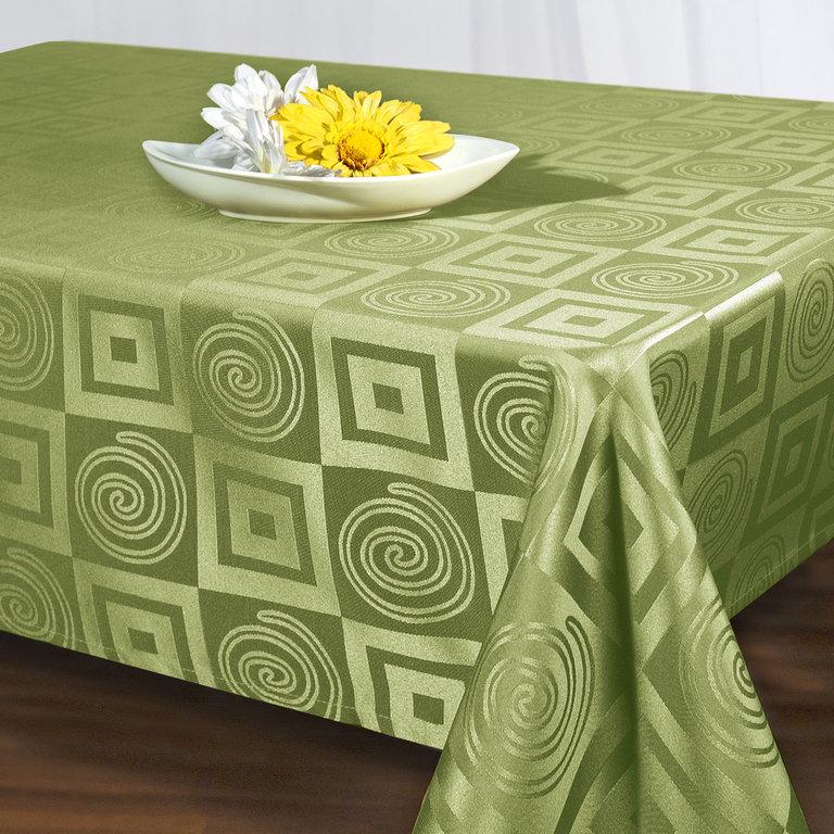 Скатерть Schaefer, прямоугольная, цвет: зеленый, 140 x 170 см. 06925-43006925-430Скатерть Schaefer выполнена из высококачественного полиэстера и оформлена оригинальным рисунком. Изделия из полиэстера легко стирать: они не мнутся, не садятся и быстро сохнут, они более долговечны, чем изделия из натуральных волокон. Скатерть Schaefer не останется без внимания ваших гостей, а вас будет ежедневно радовать ярким дизайном и несравненным качеством. Немецкая компания Schaefer создана в 1921 году. На протяжении всего времени существования она создает уникальные коллекции домашнего текстиля для гостиных, спален, кухонь и ванных комнат. Дизайнерские идеи немецких художников компании Schaefer воплощаются в текстильных изделиях, которые сделают ваш дом красивее и уютнее и не останутся незамеченными вашими гостями. Дарите себе и близким красоту каждый день! Изысканный текстиль от немецкой компании Schaefer - это красота, стиль и уют в вашем доме.