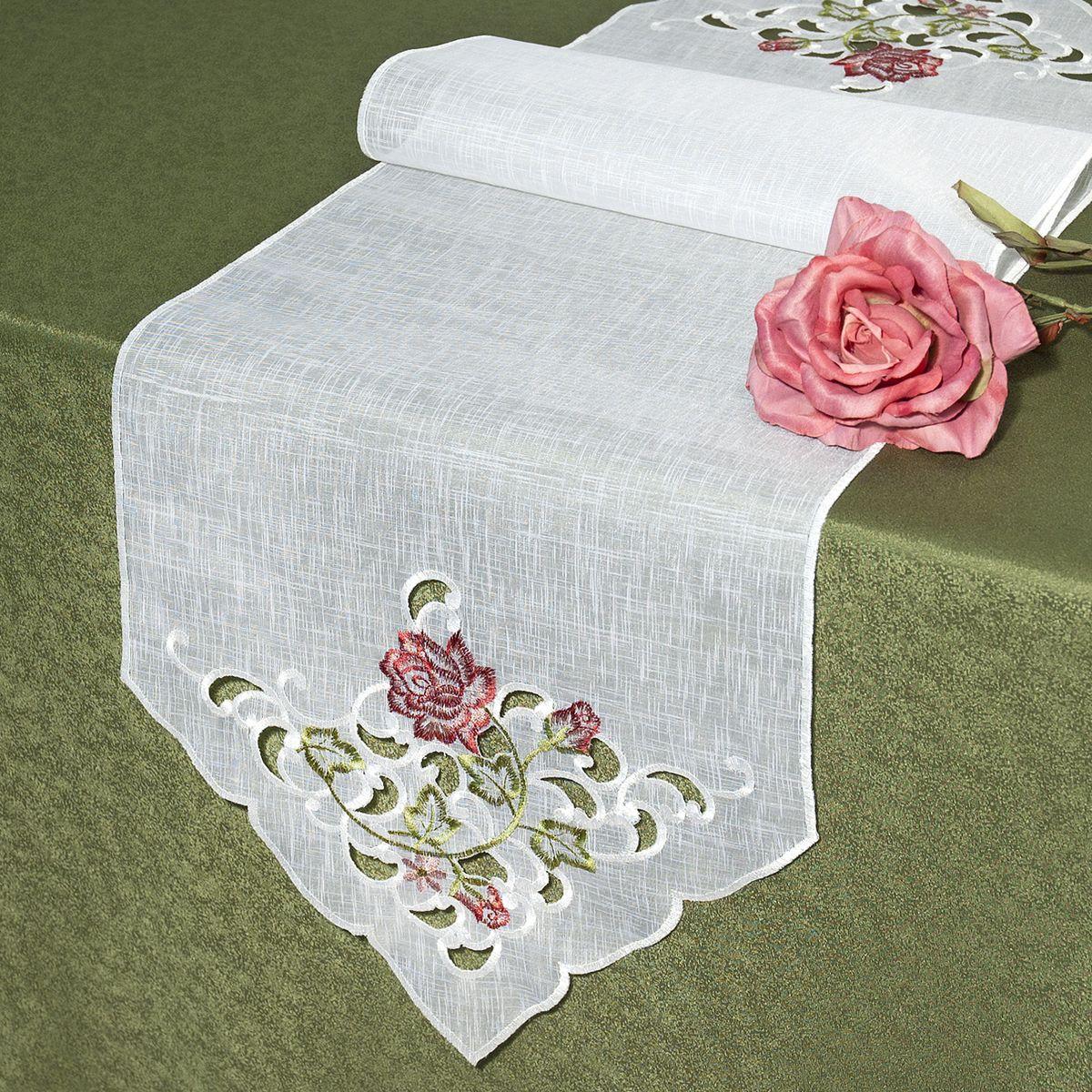 Дорожка для декорирования стола Schaefer, прямоугольная, цвет: белый, 35 x 140 см 07226-23007226-230Дорожка Schaefer выполнена из высококачественного полиэстера. Края изделия оформлены вышивкой в технике ришелье. Вы можете использовать дорожку для декорирования стола, комода или журнального столика. Благодаря такой дорожке вы защитите поверхность мебели от воды, пятен и механических воздействий, а также создадите атмосферу уюта и домашнего тепла в интерьере вашей квартиры. Изделия из искусственных волокон легко стирать: они не мнутся, не садятся и быстро сохнут, они более долговечны, чем изделия из натуральных волокон. Изысканный текстиль от немецкой компании Schaefer - это красота, стиль и уют в вашем доме. Дорожка органично впишется в интерьер любого помещения, а оригинальный дизайн удовлетворит даже самый изысканный вкус. Дарите себе и близким красоту каждый день!