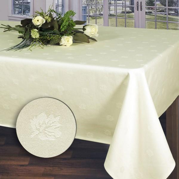 Скатерть Schaefer, прямоугольная, цвет: кремовый, 130 x 220 см. 07361-43507361-435Прямоугольная скатерть Schaefer выполнена из 100% хлопка и оформлена рельефными изображениями листочков. Использование такой скатерти сделает застолье более торжественным, поднимет настроение гостей и приятно удивит их вашим изысканным вкусом. Также вы можете использовать эту скатерть для повседневной трапезы, превратив каждый прием пищи в волшебный праздник и веселье.