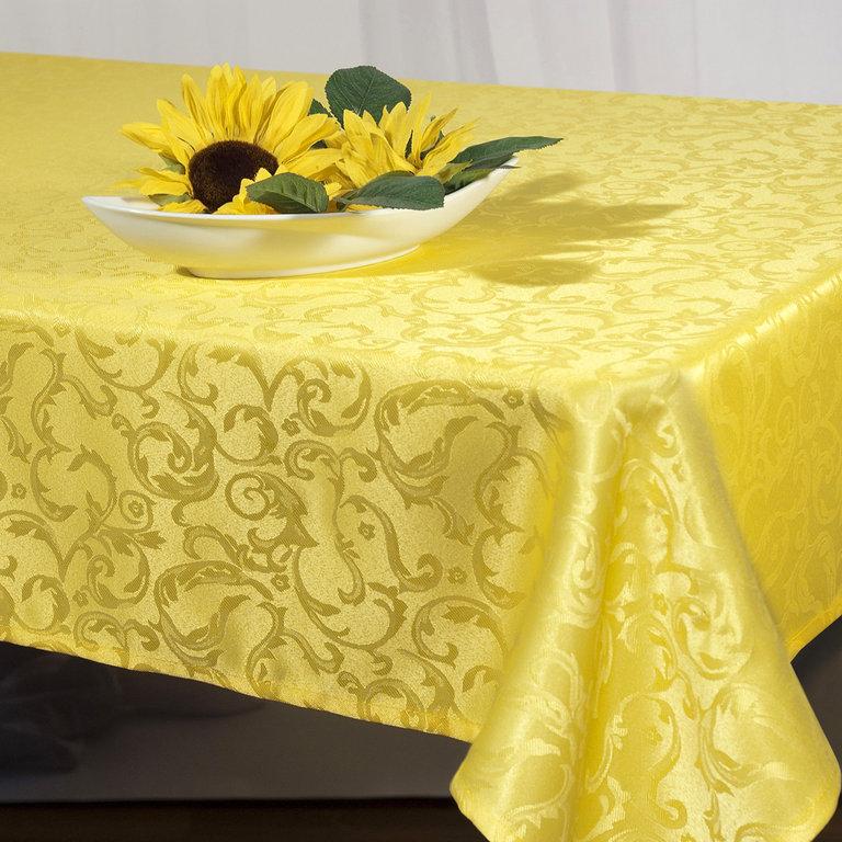 Скатерть Schaefer, прямоугольная, цвет: желтый, 130 x 160 см. 07433-42707433-427Скатерть Schaefer выполнена из высококачественного однотонного полиэстера и оформлена изящным узором. Изделия из полиэстера легко стирать: они не мнутся, не садятся и быстро сохнут, они более долговечны, чем изделия из натуральных волокон. Скатерть Schaefer не останется без внимания ваших гостей, а вас будет ежедневно радовать ярким дизайном и несравненным качеством. Немецкая компания Schaefer создана в 1921 году. На протяжении всего времени существования она создает уникальные коллекции домашнего текстиля для гостиных, спален, кухонь и ванных комнат. Дизайнерские идеи немецких художников компании Schaefer воплощаются в текстильных изделиях, которые сделают ваш дом красивее и уютнее и не останутся незамеченными вашими гостями. Дарите себе и близким красоту каждый день! Изысканный текстиль от немецкой компании Schaefer - это красота, стиль и уют в вашем доме.