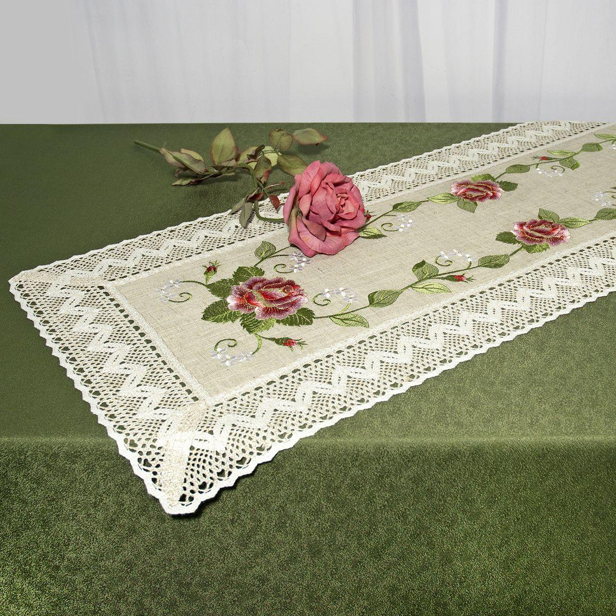 Дорожка для декорирования стола Schaefer, прямоугольная, цвет: серо-бежевый, 40 см x 100 см. 07527-202 - Schaefer07527-202Прямоугольная дорожка Schaefer изготовлена из высококачественного полиэстера и оформлена по краю отделочной тесьмой. Фактура ткани выполнена под натуральный лен, вышивка ручная. Вы можете использовать дорожку для декорирования стола, комода или журнального столика. Благодаря такой дорожке вы защитите поверхность мебели от воды, пятен и механических воздействий, а также создадите атмосферу уюта и домашнего тепла в интерьере вашей квартиры. Изделия из искусственных волокон легко стирать: они не мнутся, не садятся и быстро сохнут, они более долговечны, чем изделия из натуральных волокон. Изысканный текстиль от немецкой компании Schaefer - это красота, стиль и уют в вашем доме. Дорожка органично впишется в интерьер любого помещения, а оригинальный дизайн удовлетворит даже самый изысканный вкус. Дарите себе и близким красоту каждый день!