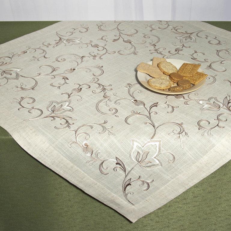 Скатерть Schaefer, квадратная, цвет: серый, коричневый, 85 x 85 см. 07530-10007530-100Скатерть Schaefer выполнена из 80% полиэстера и 20% льна и оформлена шелковой вышивкой в виде вензелей. Скатерть Schaefer не останется без внимания ваших гостей, а вас будет ежедневно радовать ярким дизайном и несравненным качеством. Немецкая компания Schaefer создана в 1921 году. На протяжении всего времени существования она создает уникальные коллекции домашнего текстиля для гостиных, спален, кухонь и ванных комнат. Дизайнерские идеи немецких художников компании Schaefer воплощаются в текстильных изделиях, которые сделают ваш дом красивее и уютнее и не останутся незамеченными вашими гостями. Дарите себе и близким красоту каждый день! Изысканный текстиль от немецкой компании Schaefer - это красота, стиль и уют в вашем доме.
