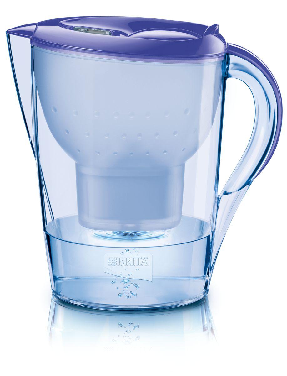 Фильтр-кувшин для воды Brita Color Edition XL, цвет: лавандовый, 3,5 л1016111Фильтр-кувшин Brita Color Edition XL, выполненный из цветного пластика, станет необходимым помощником на вашей кухне. Вода, очищенная данным фильтром обладает рядом преимуществ: - улучшает вкус горячих и холодных напитков, - увеличивает срок службы бытовых приборов, препятствуя образованию накипи, - идеальна для приготовления вкусной и здоровой пищи, - придает более насыщенный вкус и аромат чаю и кофе. Технология картриджа Maxtra снижает содержание в воде таких веществ, как хлор, алюминий, тяжелые металлы (свинец и медь), некоторые пестициды и органические примеси. Также он отфильтровывает соли жесткости. Особенности данного фильтра: - только для Maxtra, - благодаря удобной функции (одним нажатием кнопки) заменить картридж очень просто, - откидная крышка в отверстии для заливки воды, - календарь: механический индикатор ресурса кассеты будет автоматически напоминать вам о необходимости заменить кассету...