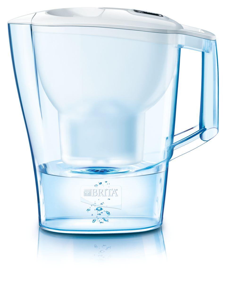Фильтр-кувшин для воды Brita Aluna Cool, цвет: белый, 2,4 л1008942Фильтр-кувшин Brita Aluna Cool, выполненный из пластика, станет необходимым помощником на вашей кухне. Вода, очищенная данным фильтром обладает рядом преимуществ: - улучшает вкус горячих и холодных напитков, - увеличивает срок службы бытовых приборов, препятствуя образованию накипи, - идеальна для приготовления вкусной и здоровой пищи, - придает более насыщенный вкус и аромат чаю и кофе. Технология фильтра Maxtra снижает содержание в воде таких веществ, как хлор, алюминий, тяжелые металлы (свинец и медь), некоторые пестициды и органические примеси. Также он отфильтровывает соли жесткости. Особенности данного фильтра: - только для Maxtra, - календарь: механический индикатор ресурса кассеты будет автоматически напоминать вам о необходимости заменить кассету через каждые 4 недели использования, - эргономичный дизайн, - фильтр можно мыть в посудомоечной машине (за исключением крышки), -...