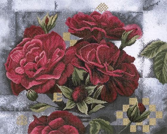 Набор для вышивания крестом Lanarte Red Roses on Black, 49 х 39 см647945Набор для вышивания крестом Lanarte Red Roses on Black является результатом особого подхода к дизайну, разработанному в студии компании в Голландии. Сделать так, чтобы предмет соответствовал и дополнял интерьер современного жилища, - такую задачу поставили перед собой во главу угла дизайнеры. Рисунок выполняется в технике счетный крест. Вышивание отвлечет вас от повседневных забот и превратится в увлекательное занятие! Работа, сделанная своими руками, создаст особый уют и атмосферу в доме и долгие годы будет радовать вас и ваших близких, а подарок, выполненный собственноручно, станет самым ценным для друзей и знакомых. В набор входит: - обработанная по краям канва с нанесенным фоном (ткань Aida 14 100% хлопок, 10,5 нитей в 1 см, 27 размер), - черно-белая схема, - мулине DMC 100% хлопок (41 цвет), - игла. Размер канвы: 63 х 46 см.