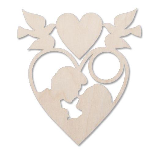 Деревянная заготовка Подвеска сердечко 12см (L-56)695089Деревянная заготовка Подвеска сердечко 12см (L-56)