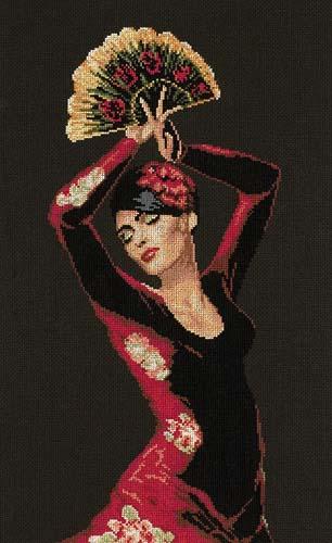Набор для вышивания крестом Lanarte Spanish Dancer, 30 х 50 см924020Набор для вышивания крестом Lanarte Spanish Dancer является результатом особого подхода к дизайну, разработанному в студии компании в Голландии. Сделать так, чтобы предмет соответствовал и дополнял интерьер современного жилища, - такую задачу поставили перед собой во главу угла дизайнеры. Рисунок выполняется в технике счетный крест. Вышивание отвлечет вас от повседневных забот и превратится в увлекательное занятие! Работа, сделанная своими руками, создаст особый уют и атмосферу в доме и долгие годы будет радовать вас и ваших близких. В набор входит: - канва черного цвета (ткань Aida 14 - 100% хлопок), - черно-белая символьная схема с инструкцией на русском языке, - мулине DMC 100% хлопок (26 цветов), - игла. Размер канвы: 65,5 х 43 см.