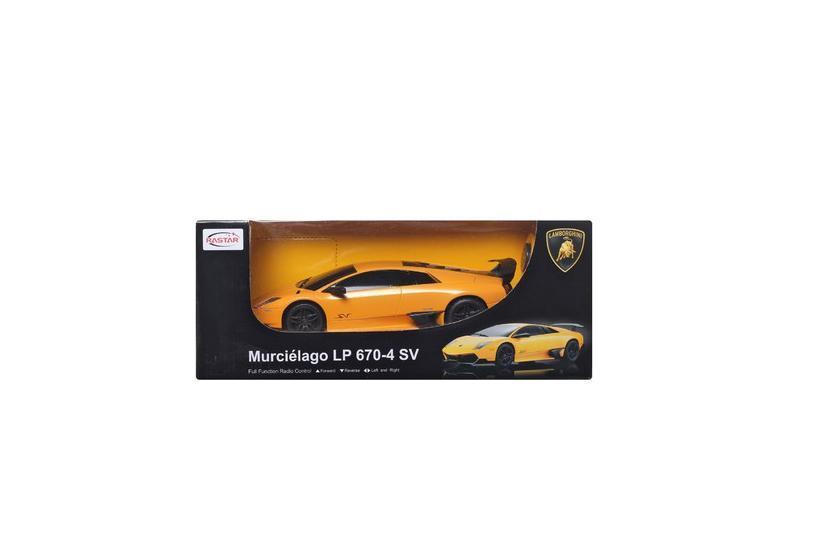 Rastar Радиоуправляемая модель Lamborghini цвет оранжевый29000Маленький гонщик, несомненно, обрадуется подарку в виде шикарной радиоуправляемой машины. Ребенок вмиг разберется с управлением, пульт довольно прост в освоении, после чего сразу же устроит пробный заезд, а после тестового испытания начнет выжимать из мотора этого стального скакуна максимальную скорость.