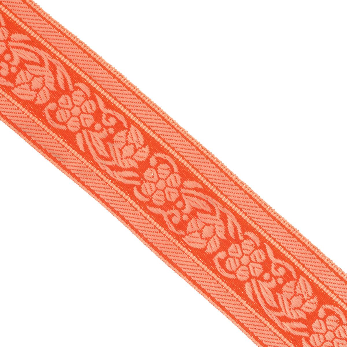 Тесьма декоративная Астра, цвет: красный, ширина 3,5 см, длина 16,4 м. 7703346_84/79L7703346_84/79LДекоративная тесьма Астра выполнена из текстиля и оформлена оригинальным орнаментом. Такая тесьма идеально подойдет для оформления различных творческих работ таких, как скрапбукинг, аппликация, декор коробок и открыток и многое другое. Тесьма наивысшего качества и практична в использовании. Она станет незаменимом элементов в создании рукотворного шедевра. Ширина: 3,5 см. Длина: 16,4 м.