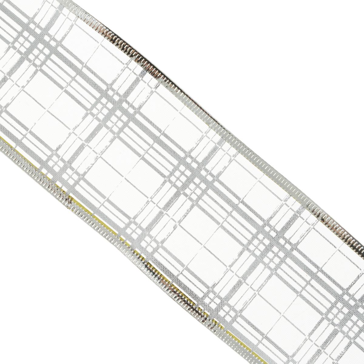 Декоративная лента Феникс-презент, цвет: сиреневый, 2,7 м. 3540935382Декоративная лента Феникс-презент выполнена из полиэстера и декорирована принтом в клетку. В края ленты вставлена проволока, благодаря чему ее легко фиксировать. Лента предназначена для оформления подарочных коробок, пакетов. Кроме того, декоративная лента с успехом применяется для художественного оформления витрин, праздничного оформления помещений, изготовления искусственных цветов. Декоративная лента украсит интерьер вашего дома к любым праздникам. Ширина ленты: 6,3 см.