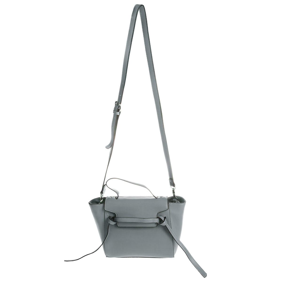 Сумка женская Dispacci, цвет: серый. 3153231532Стильная сумка Dispacci выполнена из экокожи и декорирована фактурным тиснением. Закрывается модель на застежку-молнию и дополнительно клапаном на магнитную кнопку. Внутри - большое отделение, также имеется не большой втачной карманчик на застежке-молнии, два накладных кармашка для мелочей и телефона. Внешняя задняя сторона оформлена втачным карманом на застежке-молнии. Сумка дополнена небольшой ручкой, а также съемным плечевым ремнем. Дно дополнено металлическими ножками, защищающими изделие от повреждений. Изделие упаковано в фирменный чехол. И пусть в новую сумочку помещаются все положительные эмоции, которыми обязательно наполнится Ваша жизнь!