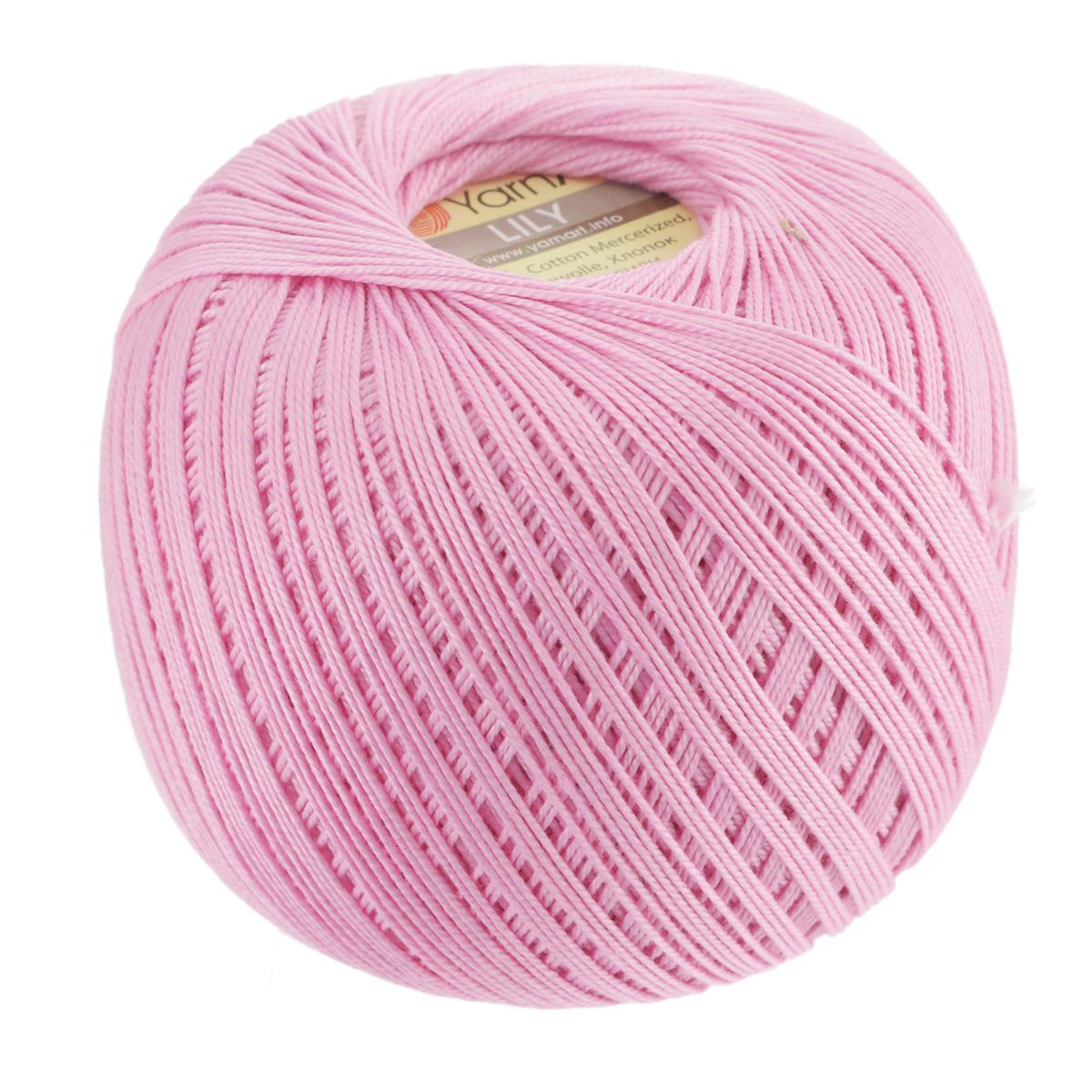 Пряжа для вязания YarnArt Lily, цвет: ярко-розовый (5046), 225 м, 50 г, 8 шт372073_5046Пряжа YarnArt Lily - тонкая, гладкая и упругая пряжа из 100% мерсеризованного хлопка для вязания крючком и спицами. Нить хорошо скручена и не расслаивается. Это классическая пряжа, которая пользуется большой популярностью. Отлично подходит для вязания ажурных изделий. Замечательный вариант для вязания в технике ирландского кружева. Рекомендуется для вязания крючком 1,75-2 мм и на спицах 2,5 мм. Комплектация: 8 мотков. Толщина нити: 1 мм. Состав: 100% мерсеризованный хлопок.