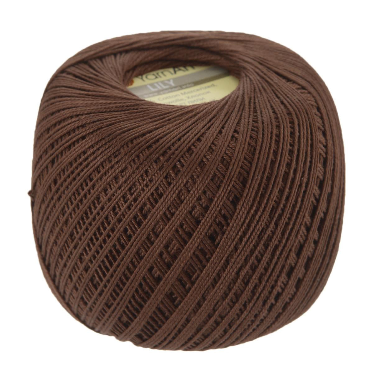 Пряжа для вязания YarnArt Lily, цвет: коричневый (0005), 225 м, 50 г, 8 шт372073_0005Пряжа YarnArt Lily - тонкая, гладкая и упругая пряжа из 100% мерсеризованного хлопка для вязания крючком и спицами. Нить хорошо скручена и не расслаивается. Это классическая пряжа, которая пользуется большой популярностью. Отлично подходит для вязания ажурных изделий. Замечательный вариант для вязания в технике ирландского кружева. Рекомендуется для вязания крючком 1,75-2 мм и на спицах 2,5 мм. Комплектация: 8 мотков. Толщина нити: 1 мм. Состав: 100% мерсеризованный хлопок.