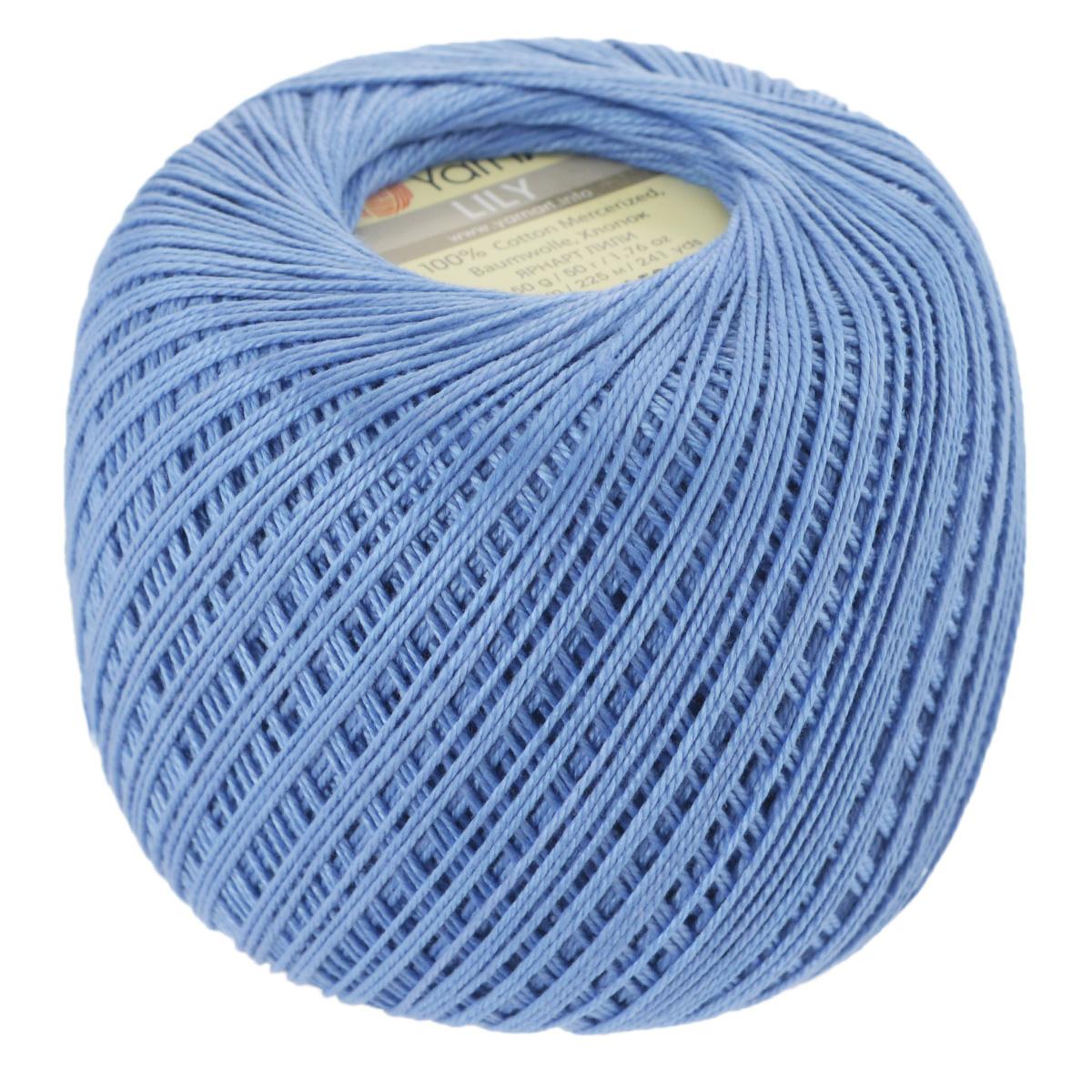 Пряжа для вязания YarnArt Lily, цвет: ярко-голубой (0582), 225 м, 50 г, 8 шт372073_0582Пряжа YarnArt Lily - тонкая, гладкая и упругая пряжа из 100% мерсеризованного хлопка для вязания крючком и спицами. Нить хорошо скручена и не расслаивается. Это классическая пряжа, которая пользуется большой популярностью. Отлично подходит для вязания ажурных изделий. Замечательный вариант для вязания в технике ирландского кружева. Рекомендуется для вязания крючком 1,75-2 мм и на спицах 2,5 мм. Комплектация: 8 мотков. Толщина нити: 1 мм. Состав: 100% мерсеризованный хлопок.