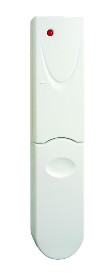 Электромагнитный датчик открывания дверь/окно Elro AB600MCAB600MCЭлектромагнитный датчик открывания AB600MC представляет собой передатчик, который принадлежит серии AB600 и был специально разработан для использования с серией приемников Вкл/Выкл. Электромагнитный переключатель состоит из двух частей: датчика и магнита. Они сконструированы для установки на двери или окна: магнит устанавливается на открывающуюся часть, а датчик устанавливается непосредственно на неподвижную раму. Если дверь/окно, охраняемые системой безопасности, открыты, происходит разрыв цепи, и светодиод на датчике загорается на 1 секунду, в течение которой радиочастотный сигнал передается на приемник. Таким образом, пользователь может контролировать открытие двери/окна с помощью состояния Вкл/Выкл подключенного к приемнику бытового устройства. Питание датчика осуществляется с помощью двух литиевых батарей типа CR2032 (входят в комплект), срок службы которых при нормальных условиях работы превышает 1 год. Будьте внимательны при установки датчика на...