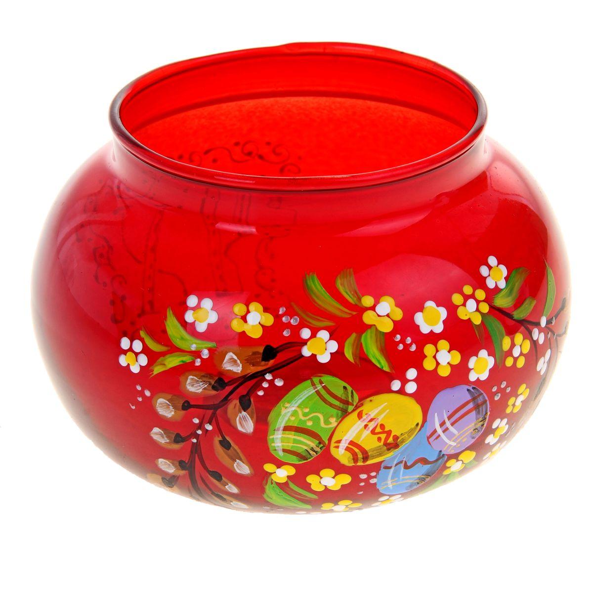 Подсвечник Sima-land Пасха, цвет: красный196291Подсвечник Sima-land Пасха идеально подойдет для праздничного оформления дома. Подсвечник выполнен из стекла красного цвета и украшен пасхальным рисунком. В центр изделия помещается свеча-таблетка (не входит в комплект). Зажгите свечку, поставьте ее в подсвечник и наслаждайтесь теплом, которое наполнит ваше сердце. Пасхальный декоративный подсвечник украсит интерьер вашего дома. Оригинальный дизайн и красочное исполнение создадут праздничное настроение. Кроме того, это отличный вариант подарка для ваших близких и друзей. Размер подсвечника: 11 см х 11 см х 7,5 см. Диаметр отверстия для свечи: 7,5 см.