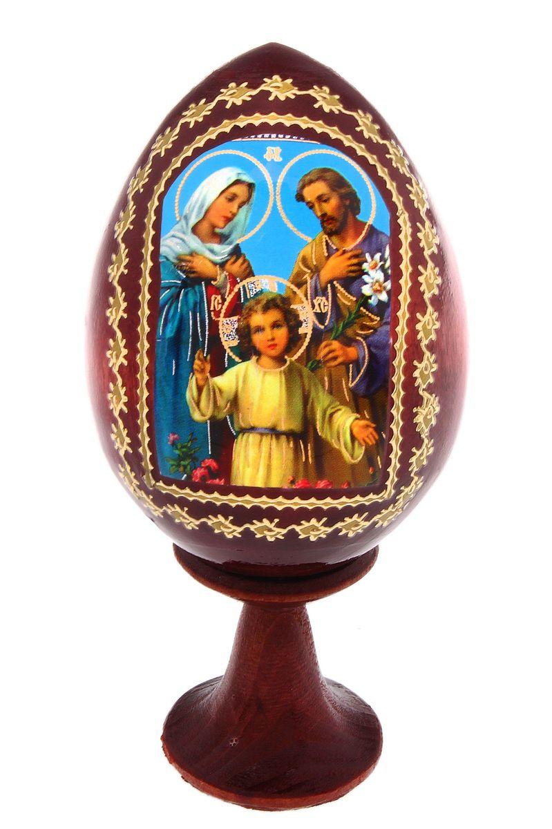 Сувенир Яйцо на подставке №4 Святое семейство 694636