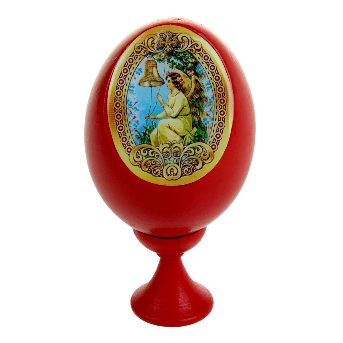Яйцо декоративное Sima-land Европейский ангел, на подставке, высота 11 см888766Декоративное яйцо Sima-land Европейский ангел изготовлено из дерева. Яйцо оформлено яркой наклейкой с изображением ангела, покрытой смоляным слоем. Изделие располагается на деревянной подставке. Декоративное яйцо Sima-land Европейский ангел принесет в ваш дом ощущение торжества, душевного уюта и станет идеальным подарком на Пасху. Диаметр яйца: 5,5 см. Высота яйца: 8 см. Размер подставки: 3 см х 3 см х 3,5 см.